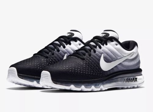 huge selection of a23fa 678be Nike Air Max 2017 Mens Running Shoes 11.5 Black White 849559 010 Oreo  Nike   RunningCrossTraining