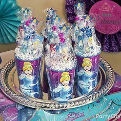 6 Cinderella Sparkle Necklaces Cinderella Birthday Party Favor Cinderella Birthday or Slumber Party Favors Cinderella Necklace Favor