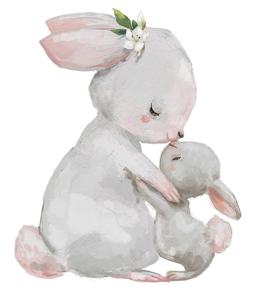 Cute Mum & Baby Bunny #cutebabybunnies