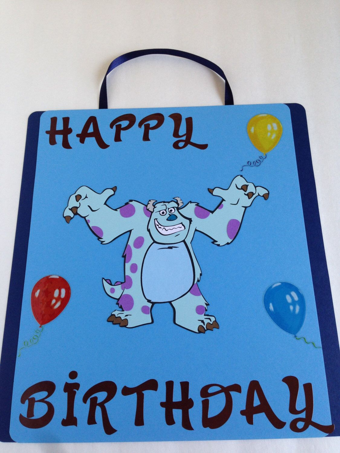 Sulley Birthday Door Sign (#1); Monsters Inc. Happy Birthday Door ...