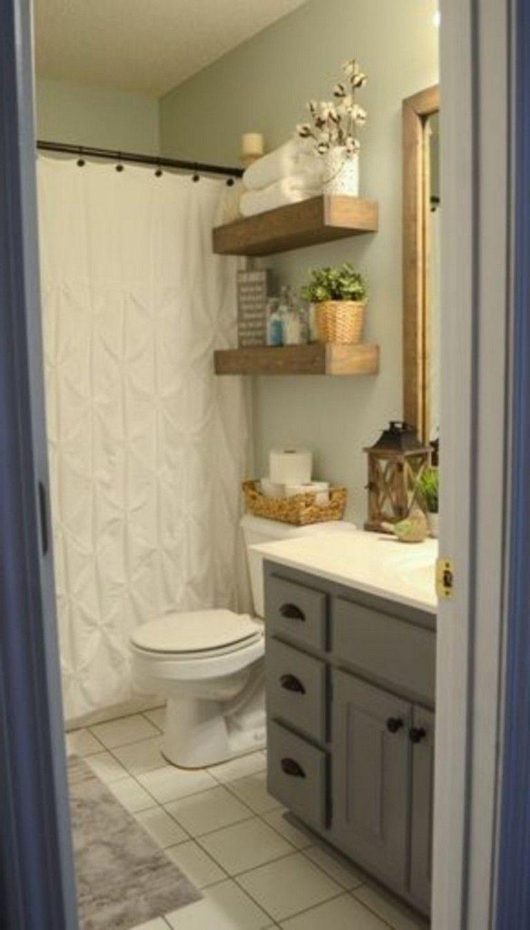 54 Best Farmhouse Bathroom Ideas For Small Space Diy Bathroom Makeover Diy Bathroom Inspiration Bathroom Design Decor