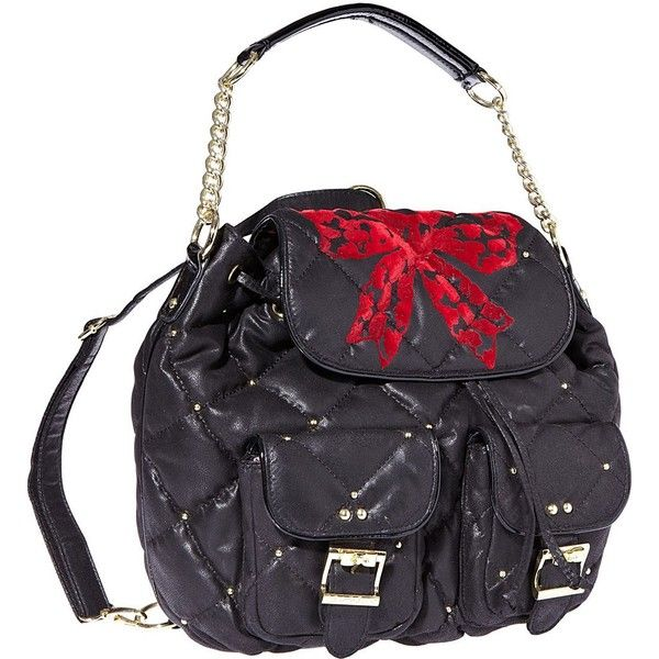 Betsey Johnson High Society Backpack (125 CAD) found on Polyvore