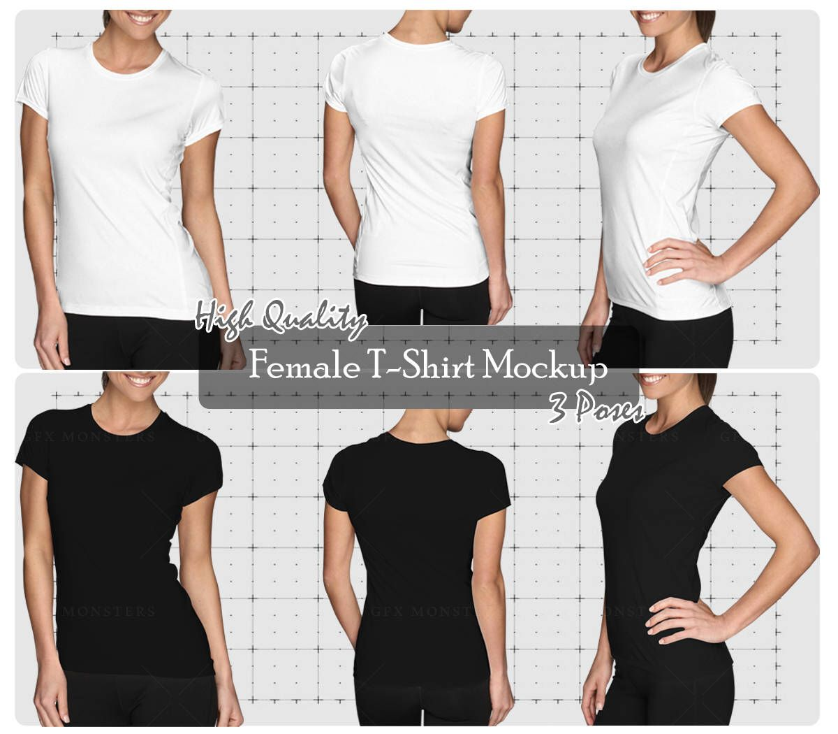 Download Female T Shirt Mock Up Png Psd Set Front Back Perspective Apparels Mock Up High Resolution Mock Ups Instant Download By Gfxmonsters On Etsy Https Www