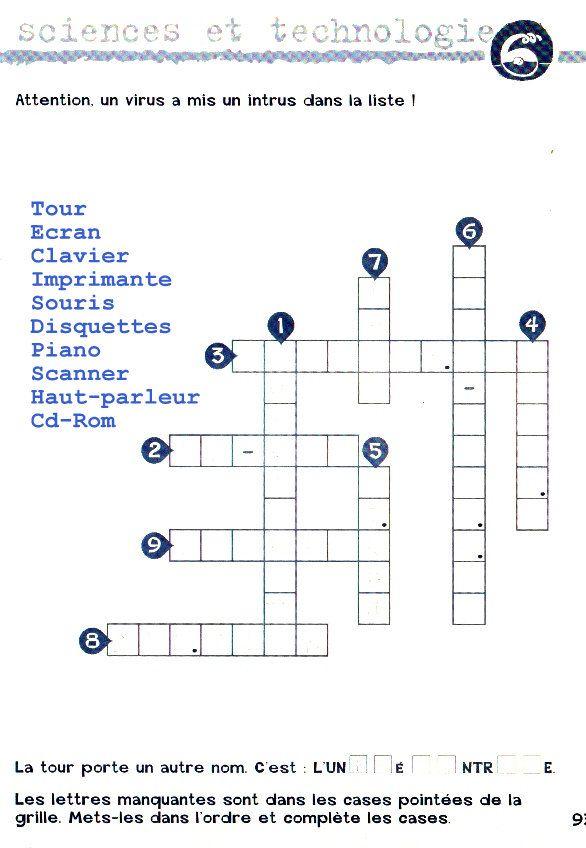 Jouons A L Histoire La Geographie Et Les Sciences Par Les Mots Croises Edition Retz Informatique 2 Http Www Editions Re Crossword Crossword Puzzle School