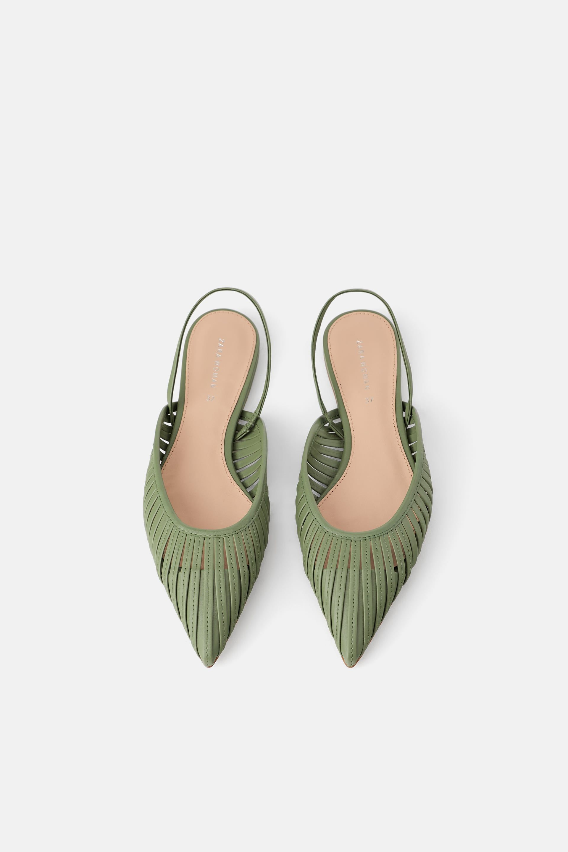 b0232d1b7b Flat cage slingbacks in 2019 | SHOES | Zara flats, Slingback shoes ...