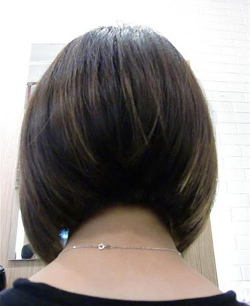 Example Picture Short Stacked Bob Hairstyles in Back View
