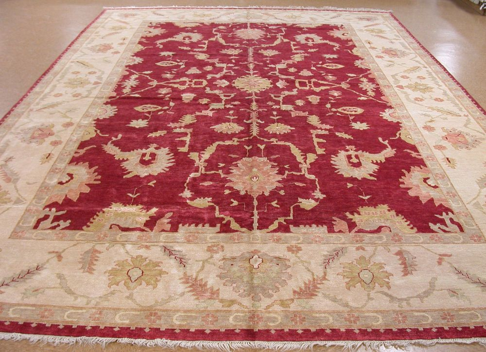 13 X 20 Oushak Hand Knotted Wool Red Ivory New Large Oriental Rug Carpet Large Oriental Rugs Rugs On Carpet Oriental Rug