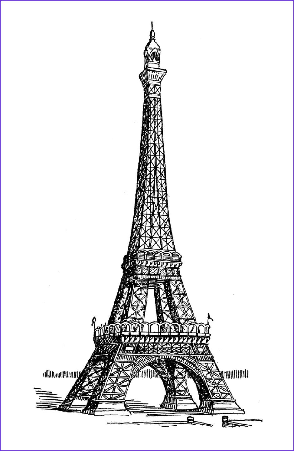 45 Best Of Stock Of Coloring Paris Eiffel tower painting