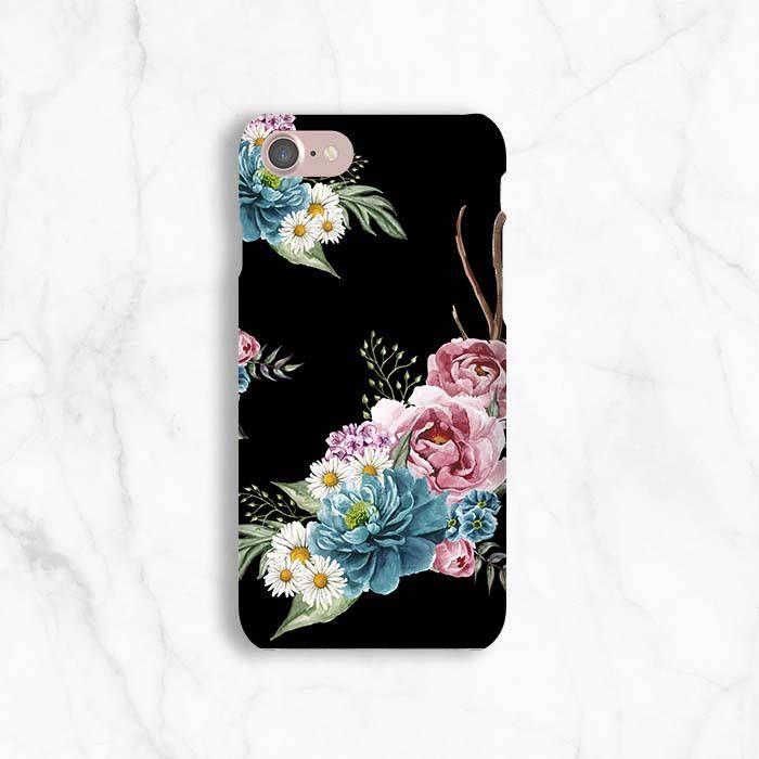 black flower iphone 7 case