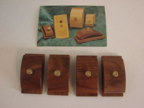 ONE HANG UPS WOODEN Quilt Rug Fabric Tapestry Hanger Clamps WALNUT FINISH