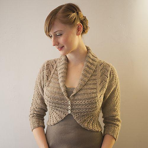 Georgina Cardigan pattern by Alexis Winslow | Boleros tejidos ...