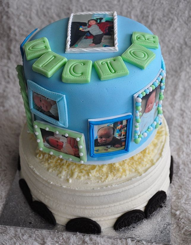 chiffon taart Victor is 1! Gouden Chiffon Cake with strawberry and Oreo | Combi  chiffon taart