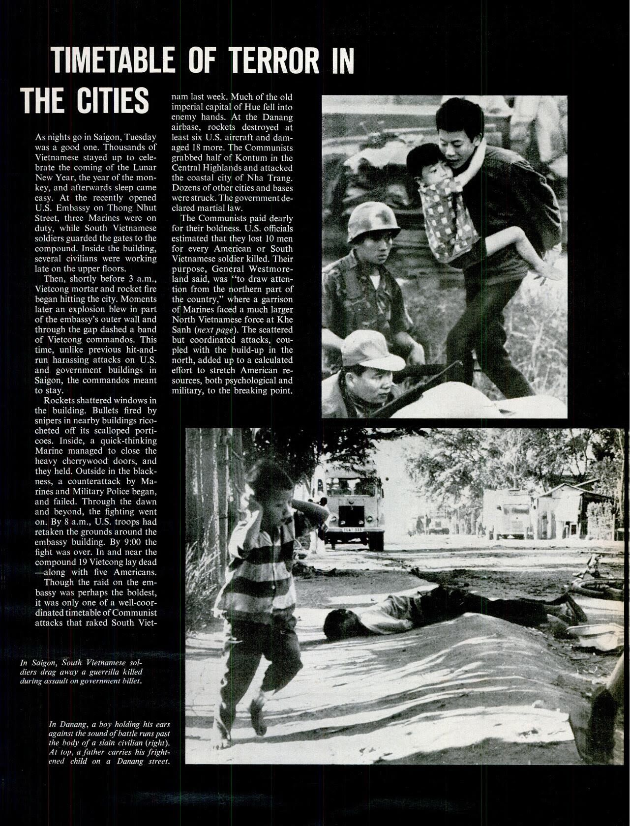 1/30:Tet Offensive  Timetable of terror in the cities  ※2/9