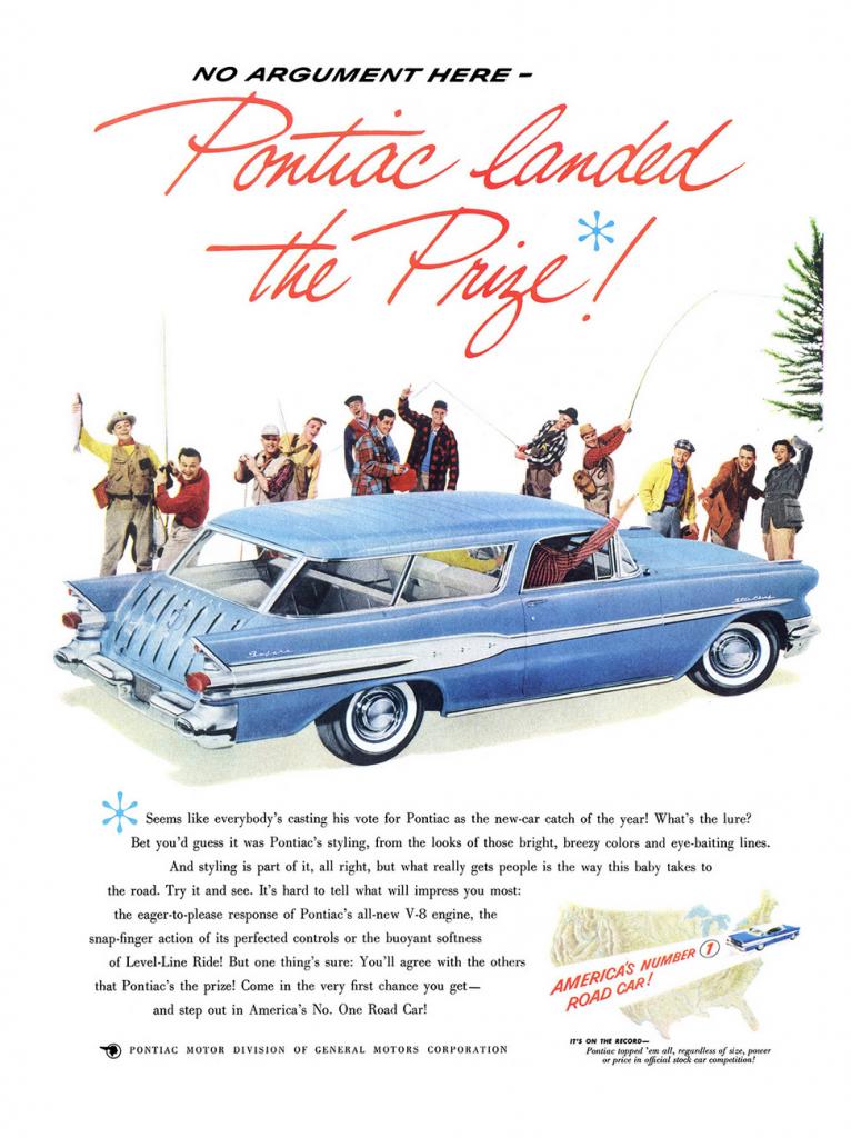 1957 Pontiac Ad | Car ads, brochures, promo photos