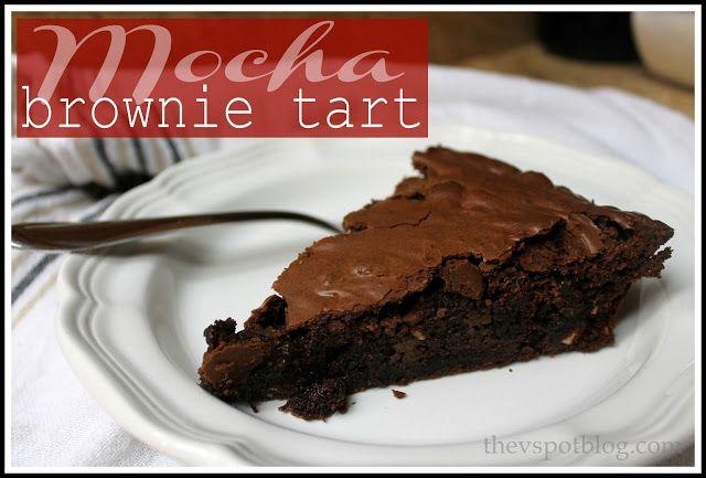 Mocha Brownie Tart (with hazelnuts)