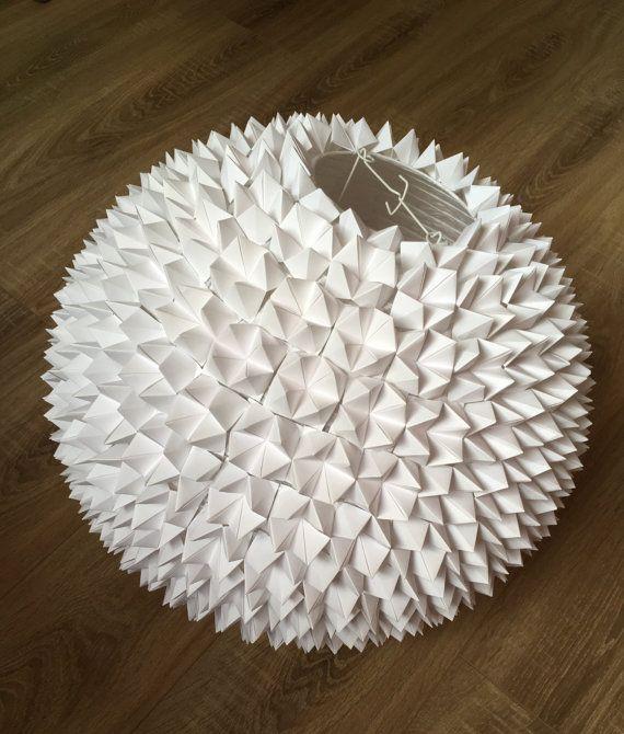 lampe abat jour origami fullmoon suspension en papier. Black Bedroom Furniture Sets. Home Design Ideas
