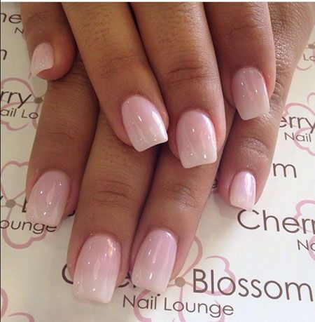 french ombre nails with gold glitter baby boomer coffin
