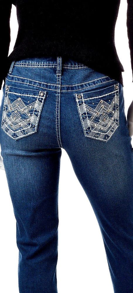 49672ebe07a Woman s EARL JEANS SIZE 16 W Embellished Pockets Skinny Bling  EarlJeans   Skinny