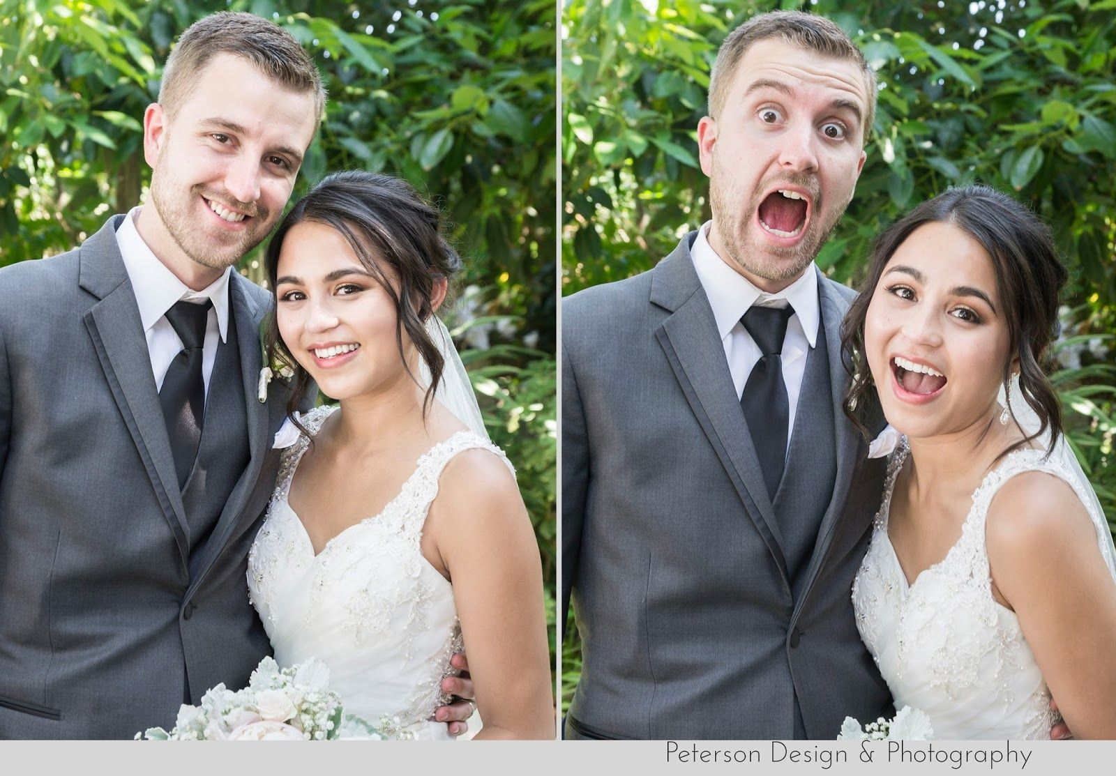 Cute And Funny Faces With Bride Groom At This Blush Pink Fl Filled Wedding