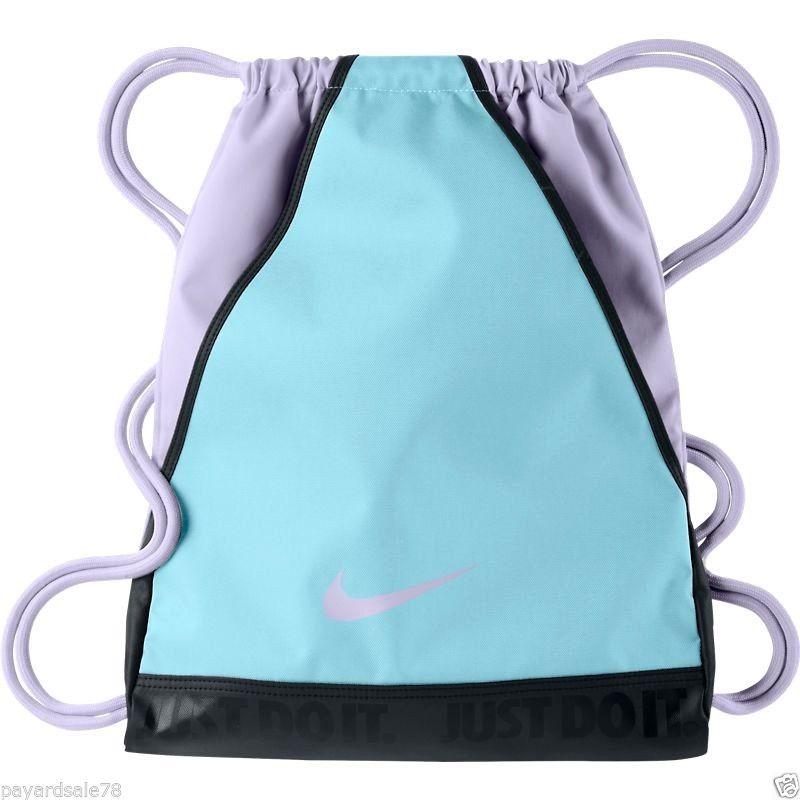 NIKE BACKPACK GLACIER ICE LAVENDER AND LIGHT BLUE BACKPACK GYM SACK STRING  BAG  Nike  Backpack 4c427ca4a