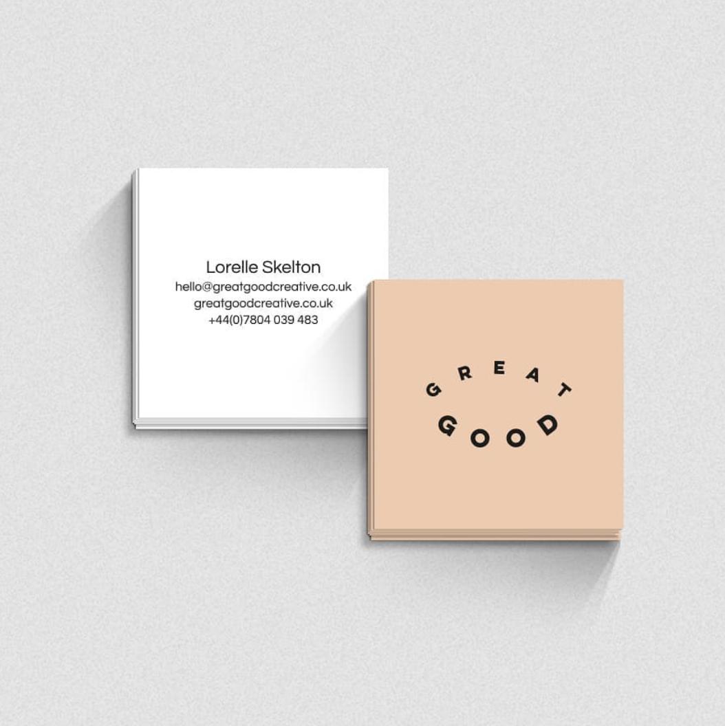 Moo Square Business Cards Designed By Greatgoodcreative Carte De Visite Minimale Carte De Visite Carre Carte De Visite
