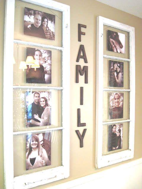 Un cadre photo avec une vieille fen tre bonnes id es for Decoration cadre fenetre