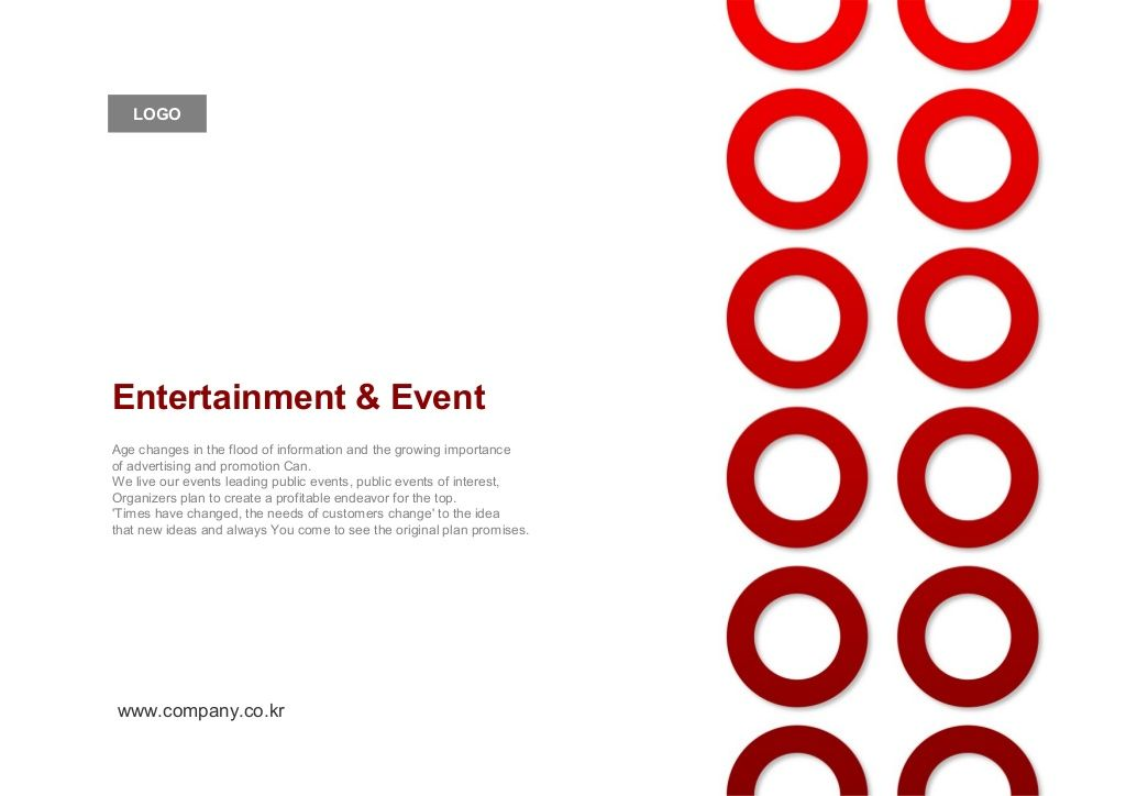 Events Entertainment Planning Proposal Ppt Templet Company Profile By Bizforms Via Slideshare