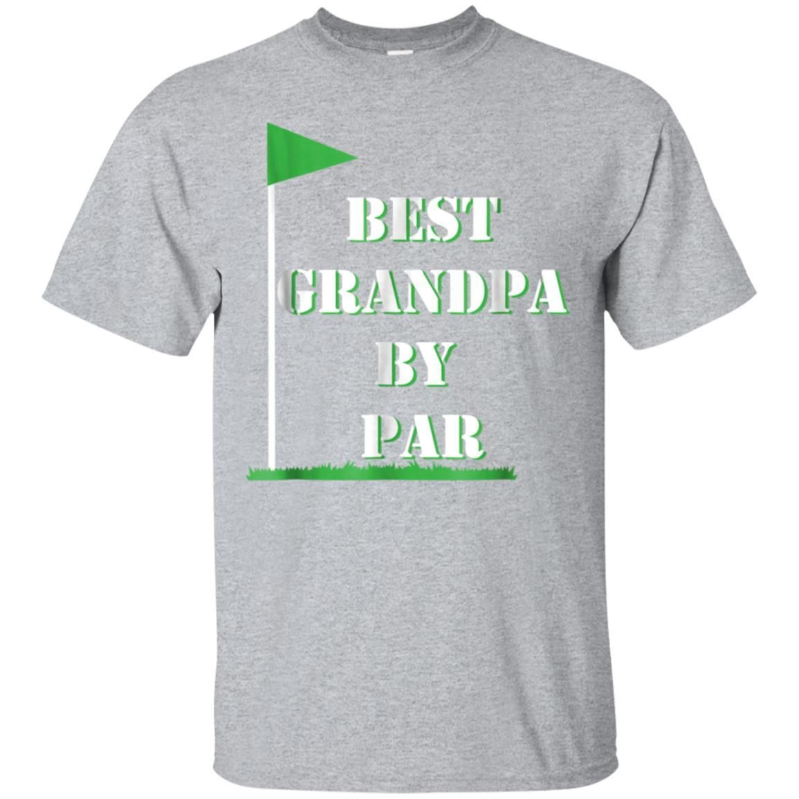 Awesome mens fathers day best grandpa by par funny golf