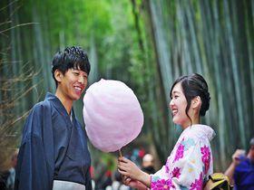 着物に映える京綿菓子京都嵐山zarameでおしゃれにフワフワ京都府LINEトラベルjp 旅行ガイド