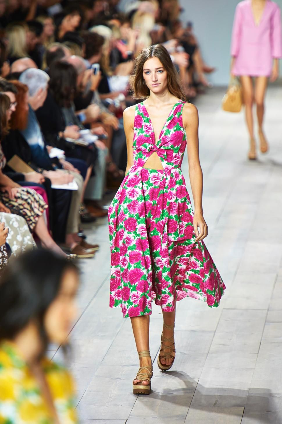 Kors' collection glorified the floral print trend