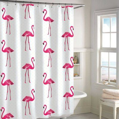 Why not inject a ton of whimsy, in the form of pink flamingos, into your morning shower?