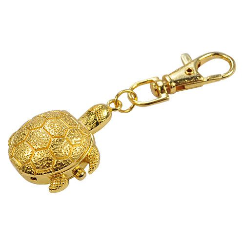 Tortoise Keychain Watch  Golden - http://ucables.com/product/tortoise-keychain-watch-golden/