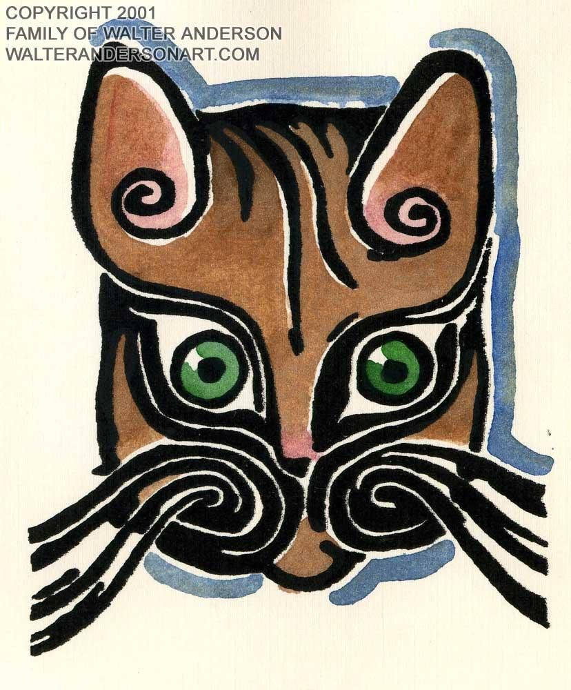 Cat Face -Walter Anderson