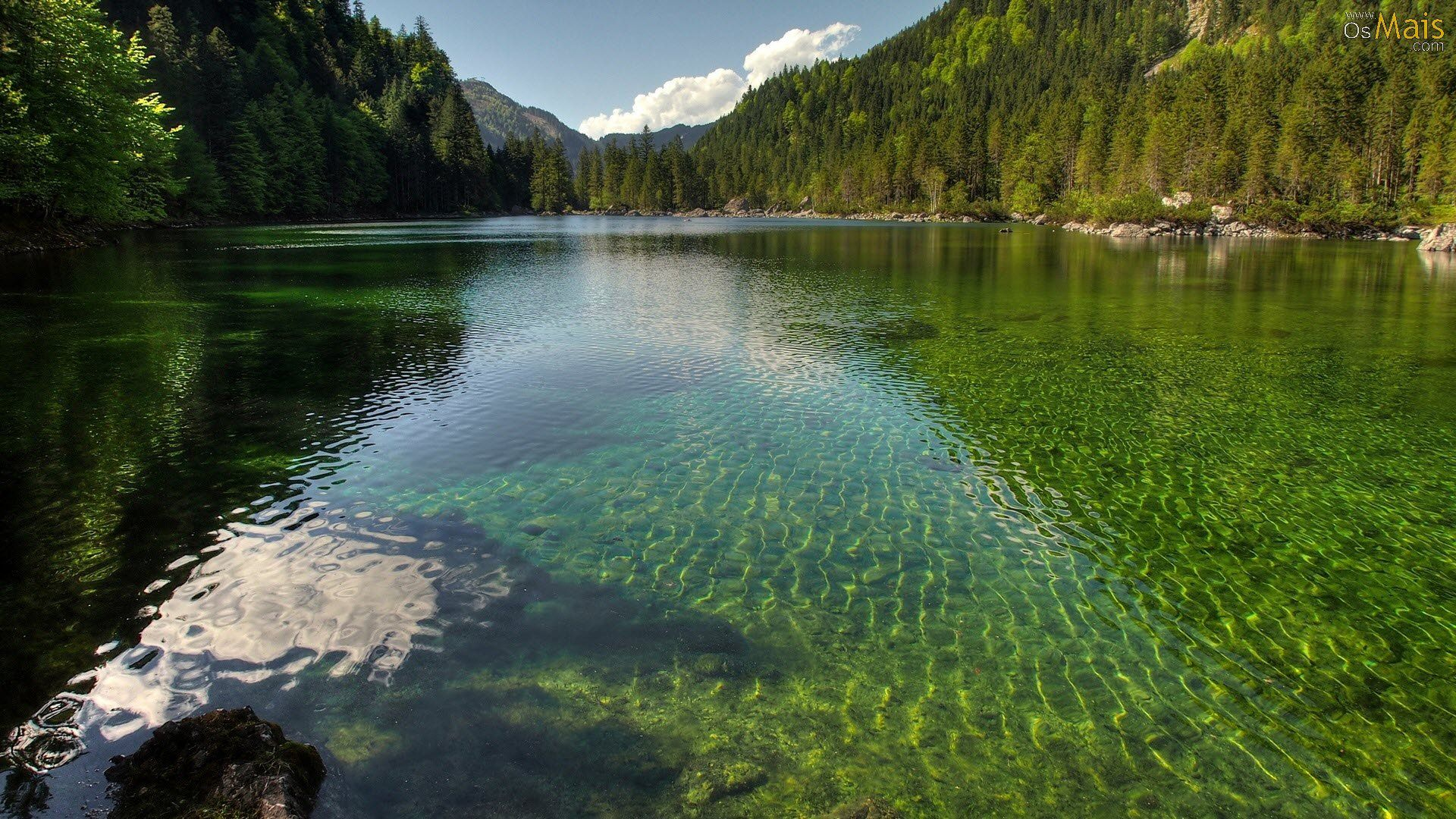 Pin On Eu1 Wallpaper green lake boat mountain fog
