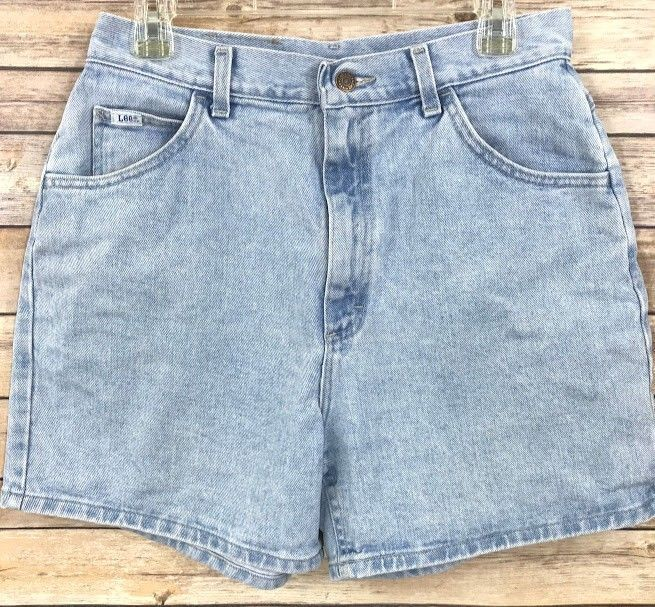 239c7c9fd6cfb Vintage Lee Womens Jean Shorts Size 14 Mom Light Wash Denim High Waisted  80s 90s  Lee  JeanShorts  Casual