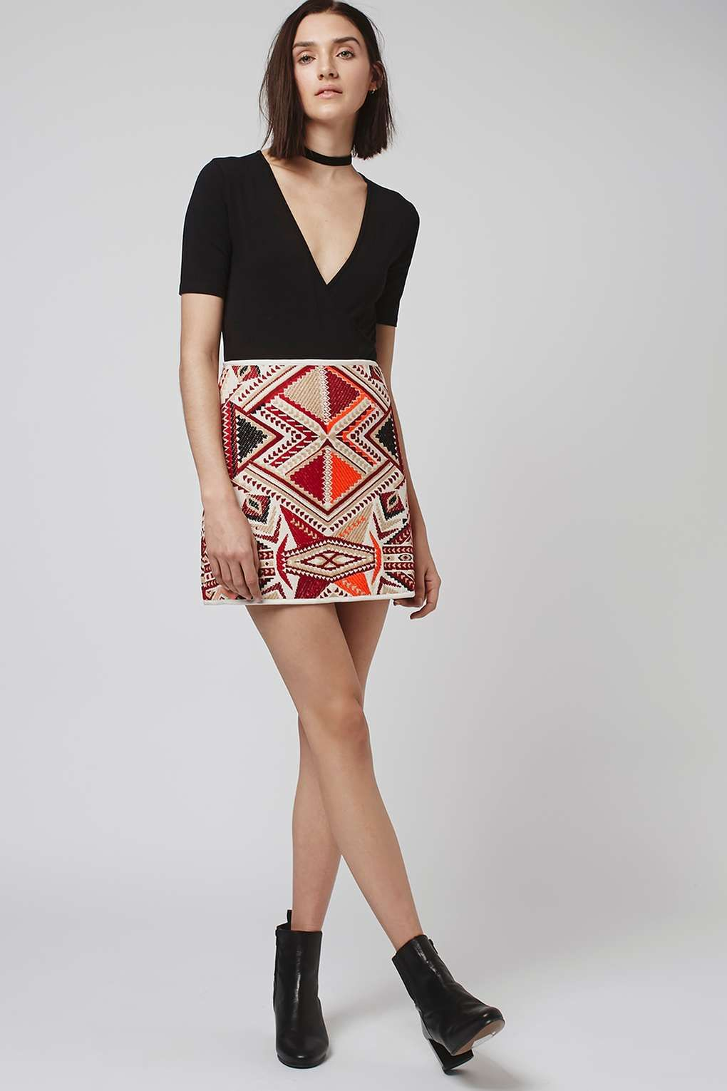 2fc5d298c8589c Embroidered Jacquard Skirt in 2019 | My Style | Mini skirts, Skirts ...