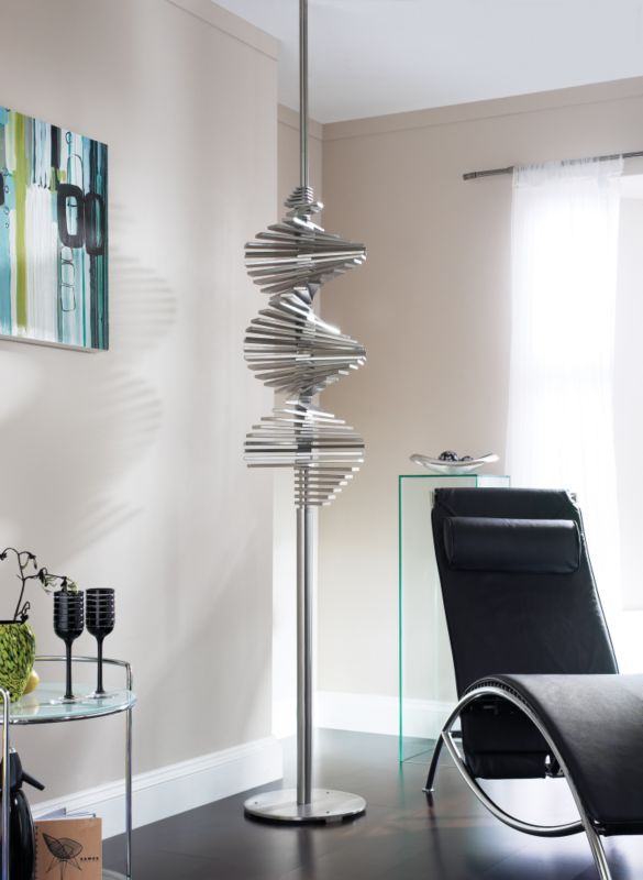 A Dramatic Floor To Ceiling Statue Of Swirling Stainless Steel Elements,  The Ecstasy · Electric RadiatorsDesigner ...