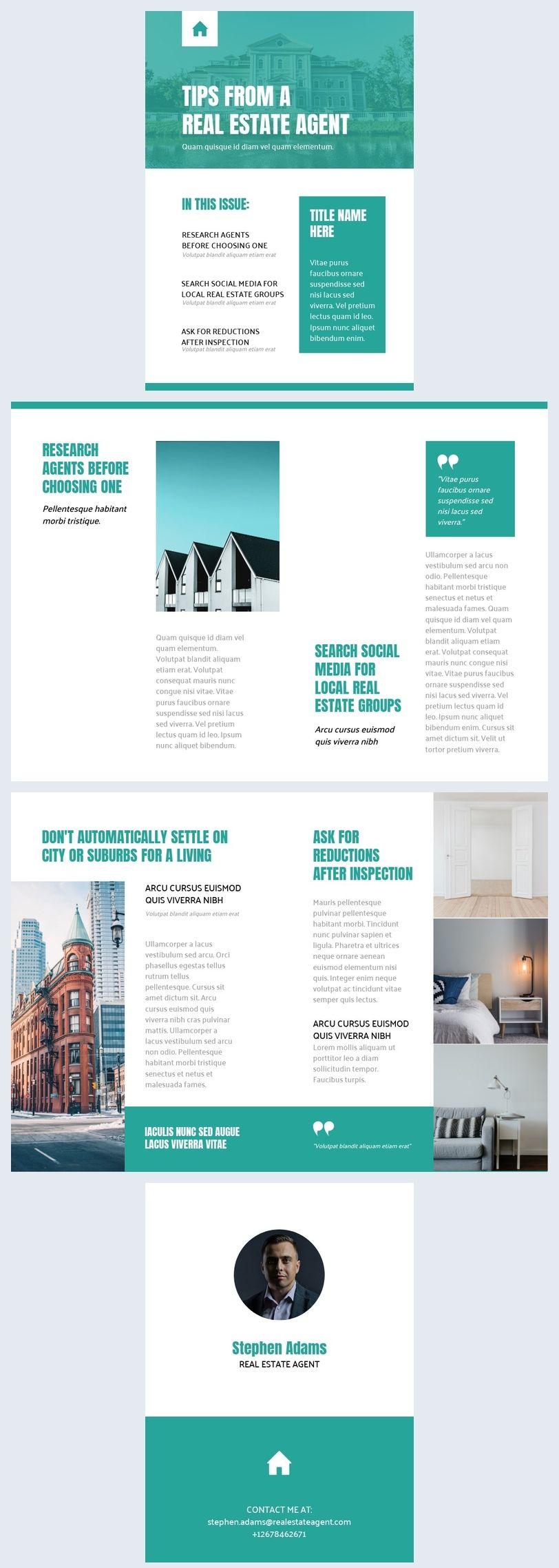Printable Realtor Newsletter Template Newsletter Templates Email Template Design Templates Free real estate newsletter template