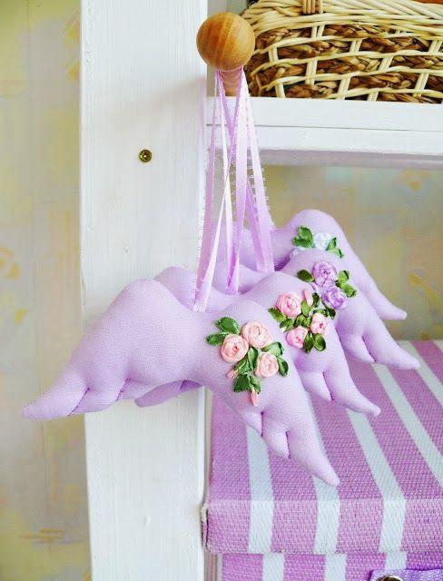 Mimin Dolls: sachê asas de lavanda