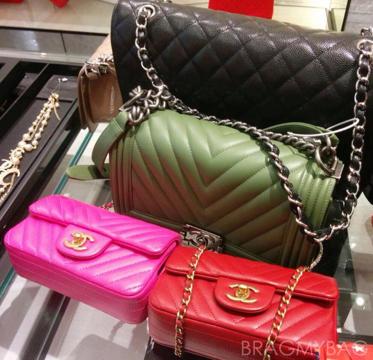 7fbe623d74b2 One Chanel Classic Flap Bag And Three Chevron Bags Please | Coco ...