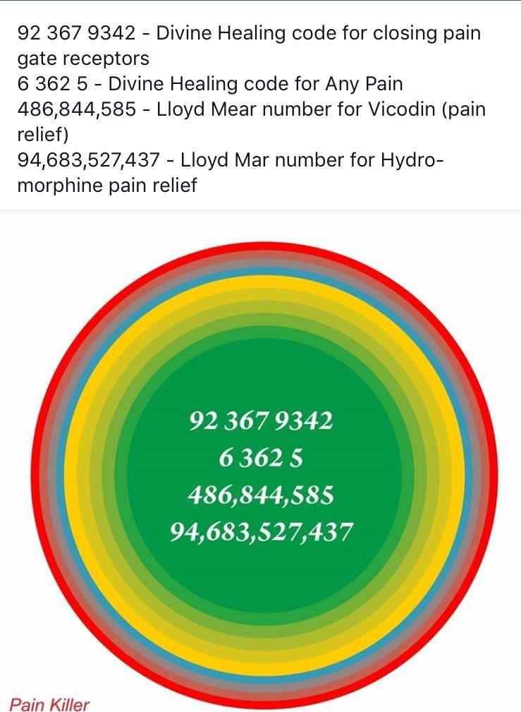 Pain related numbers- very effective | Magnets | Healing