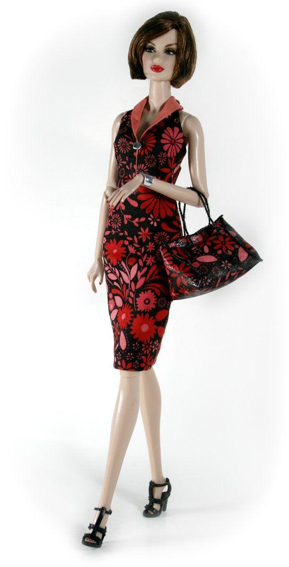 Chic Barbie Designs. Floral dress for Barbie Silkstone Fashion Royalty Dolls