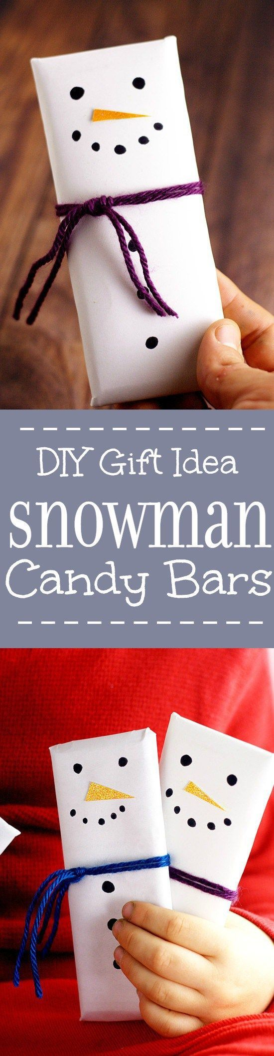 Snowman Candy Bars | DIY Gift Idea