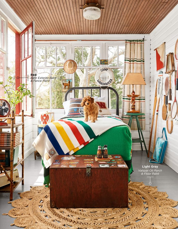 Photo of A Sunny Sleeping Porch — Country Living