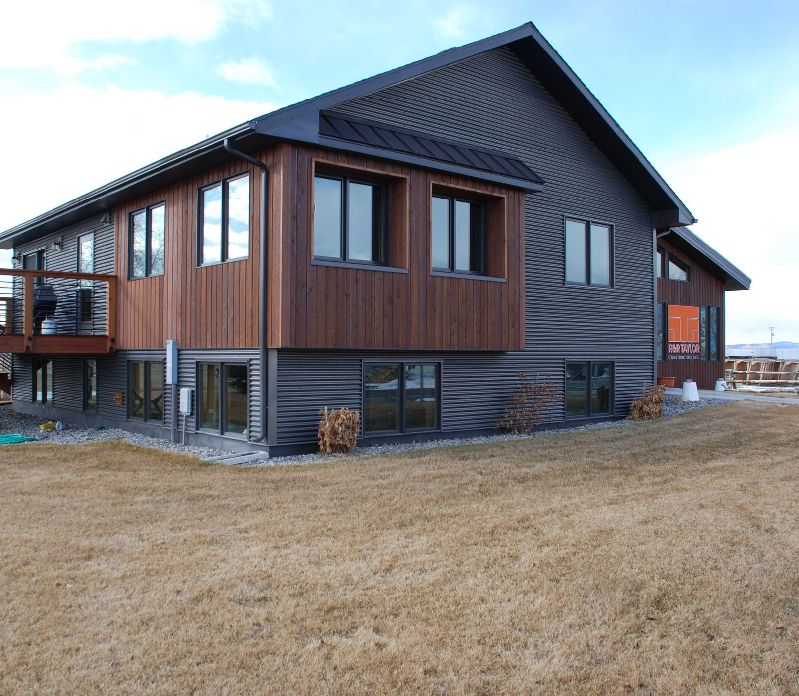 Rezibond metal siding by bridger steel for Steel home plans designs