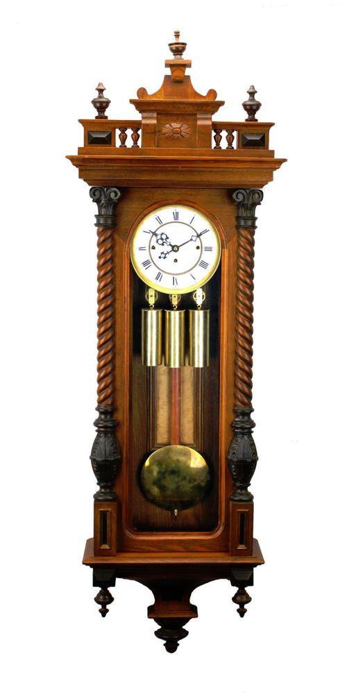 52 German Gustav Becker Grand Sonnerie 3 Weight Vienna Regulator Wall Clock Collectibles Clocks Antique Pre 1930 Eba Wanduhren Standuhren Antike Uhren