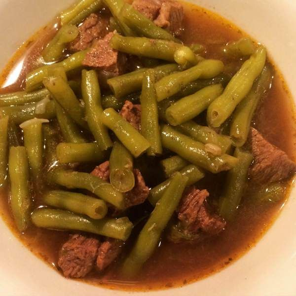Green Bean and Beef Stew in the Instant Pot