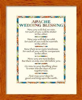 Wedding Blessing Apache Wedding Blessing Framed Wedding Blessing Wedding Poems Native American Wedding