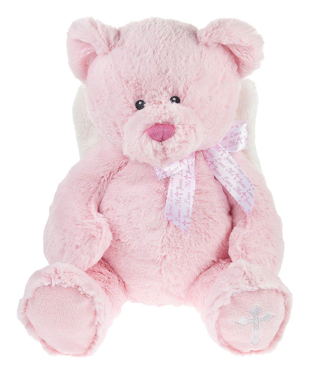 Pink 'Jesus Loves Me' Bear Plush Toy