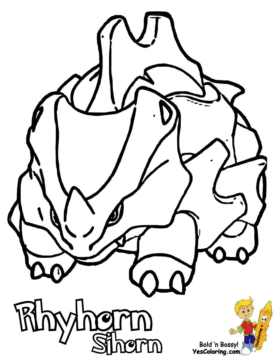 Pokemon rhyhorn coloring pages u through the thousand photographs on